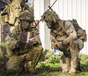 Training tomorrow's leaders. Photo courtesy Australian Army